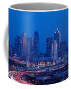 High Angle View Of A Multiple Lane Coffee Mug