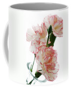 High Key Pink And White Carnation Floral  Coffee Mug