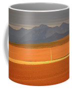 High Plains Of Alberta With Rocky Mountains In Distance Coffee Mug