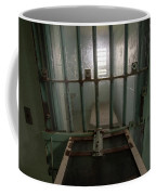 High Risk Solitary Confinement Cell In Prison Through Bars Coffee Mug
