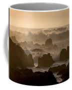 High Surf At Asilomar Beach Coffee Mug