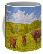 Highland Cattle Pasture Coffee Mug