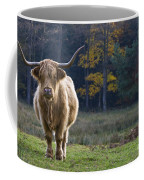 Highland Cow In France Coffee Mug