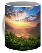 Highlands Sunrise - Whitesides Mountain In Highlands Nc Coffee Mug