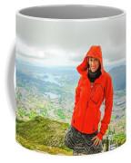 Hiker Woman In Norway Coffee Mug