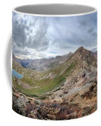 Hikers On Columbine Pass - Weminuche Wilderness - Colorado Coffee Mug