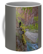 Hikers Zion National Park Coffee Mug