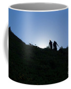 Hikiers On Mount Massive Coffee Mug