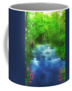 Hiking At The Rivers Edge Coffee Mug