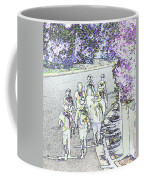 Hiking Down The Street I  Painterly Glowing Edges Invert  Coffee Mug
