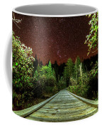 Hiking Into The Night Adirondack Log Keene Valley Ny New York Coffee Mug