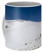 Hiking To Summit Of Mount Elbert Colorado In Winter Coffee Mug