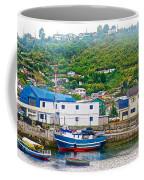 Hillside Along Harbor Near Angelo Fish Market In Puerto Montt-chile  Coffee Mug