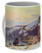 Hillside At Croisset Under Snow Coffee Mug