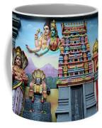 Hindu Deities On Wall Mural Of Sri Senpaga Vinayagar Tamil Temple Ceylon Rd Singapore Coffee Mug