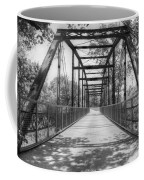Hinkson Creek Bridge In Black And White Coffee Mug