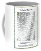 Hippocratic Oath, 1938 Coffee Mug