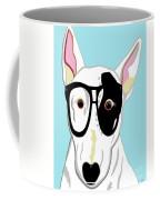 Hipster Bull Terrier Coffee Mug