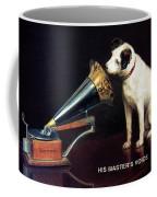 His Master's Voice - Hmv - Dog And Gramophone - Vintage Advertising Poster Coffee Mug