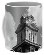 Historic Courthouse Steeple In Bw Coffee Mug by Doug Camara