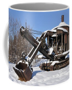 Historic Mining Steam Shovel During Alaska Winter Coffee Mug