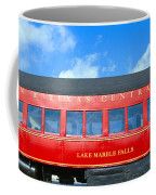Historic Red Passenger Car, Austin & Coffee Mug