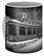 Historic Rosie's Diner In Black And White Infrared Coffee Mug