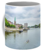 Historic Town Of Bremen And Weser River Coffee Mug