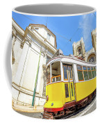 Historic Tram And Lisbon Cathedral Coffee Mug