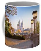 Historic Zagreb Towers Sunrise View Coffee Mug