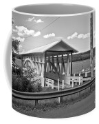 History At The Bend Black And White Coffee Mug