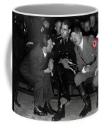 Hitler Conferring With Joseph Goebbels Circa 1936 Color Added 2016 Coffee Mug
