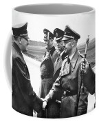 Hitler Shaking Hands With Heinrich Himmler Unknown Date Or Location Coffee Mug