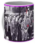 Hitler With Nazi Entourage Hess And Himmler In 2nd Row Circa 1935 Color Added 2016 Coffee Mug
