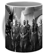 Hitler With Nazi Party Bigwigs Julius Streicher On Far Right C. 1935 Color Added 2016 Coffee Mug