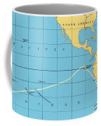 H.m.s. Beagle Course To Galapagos Coffee Mug