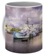 Hms Belfast And Tower Bridge Coffee Mug