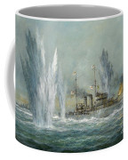 Hms Exeter Engaging In The Graf Spree At The Battle Of The River Plate Coffee Mug by Richard Willis