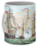 Hms Shannon Vs The American Chesapeake Coffee Mug