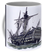 Hms Victory After The Battle Of Trafalgar, With Mizzen Topmast Shot Away Coffee Mug