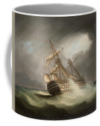 H.m.s. Victory In Full Sail And In A Squall Coffee Mug
