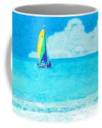 Hobie Sailing Off Lido Beach Coast Coffee Mug