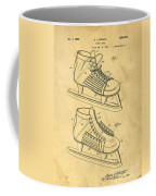 Hockey Skates Patent Art Blueprint Drawing Coffee Mug