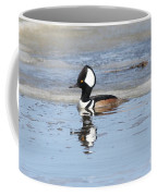 Hodded Merganser With Reflection Coffee Mug