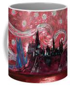 Hogwarts Starry Night In Red Coffee Mug
