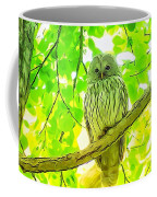 Owl  Watercolor Touch Coffee Mug