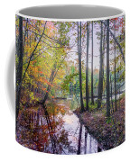 Holiday Park Lake At Dusk Coffee Mug