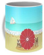 Holiday Romance Behind The Red Umbrella Coffee Mug
