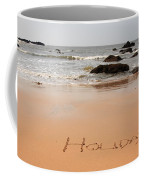 Holiday Written In The Sand Coffee Mug