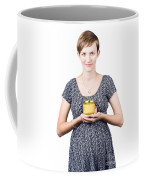 Holistic Naturopath Holding Jar Of Homemade Spread Coffee Mug